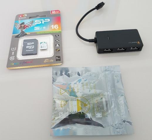 Raspberry pi zero w (v1.3) wifi kit com hub usb de 4 portas