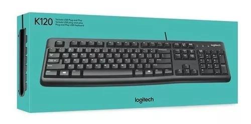 Teclado logitech k120 com fio cabo usb abnt2 c/ ç