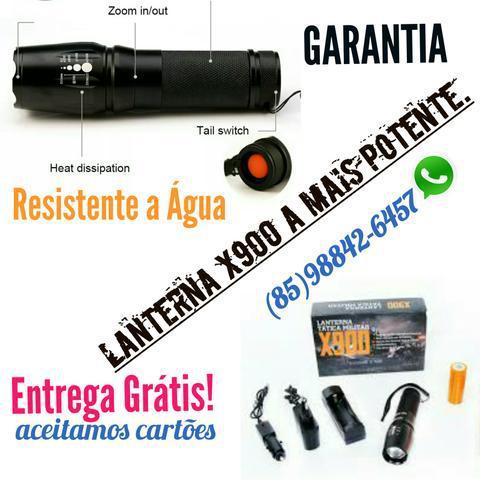 X900 a lanterna mais potente, 1 bateria recarregável