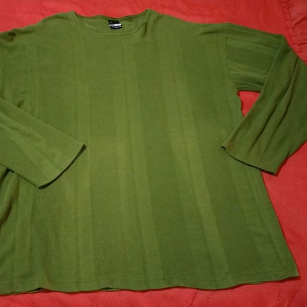 Blusa manga longa verde malwee gg