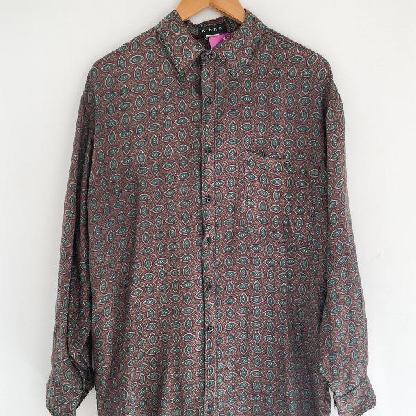 Camisa de seda vintage