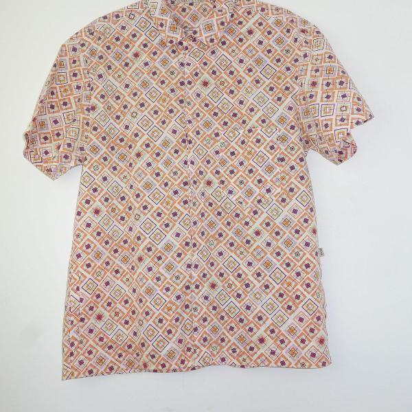 Camisa manga curta de algodão