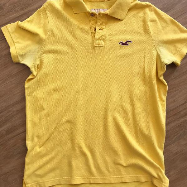 camisa polo hollister amarela