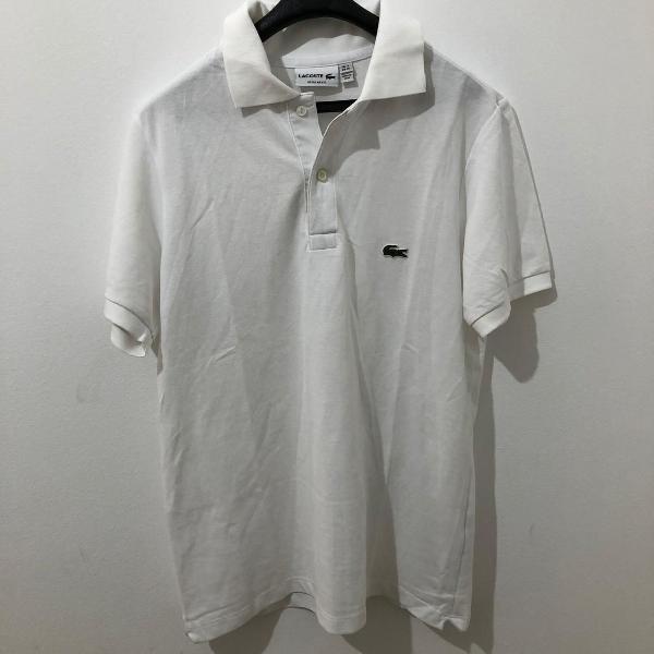 Camisa polo lacoste branco tamanho m