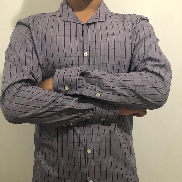 Camisa social manga longa hugo boss