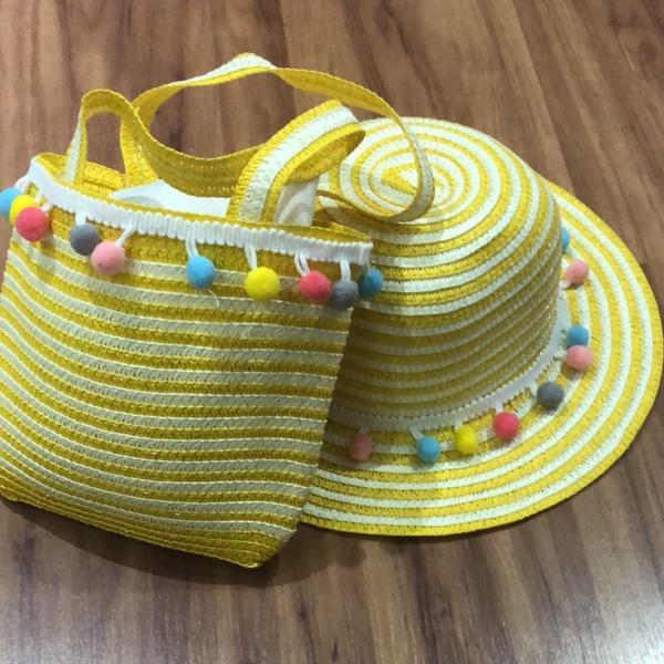 Kit infantil ( bolsinha e chapéu)