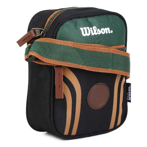 Shoulder bag wilson retrô colorido preto verde pochete