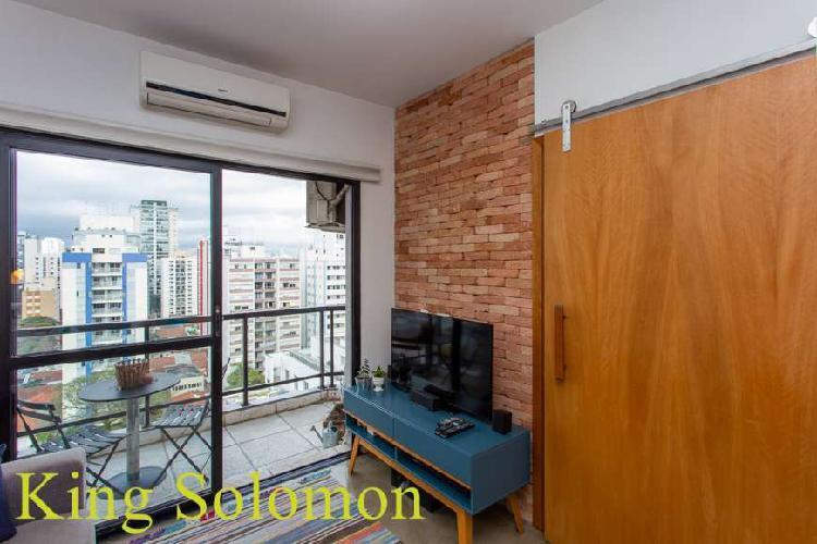 Apartamento compacto 45m² 1 dorm, 1 vaga em vila olímpia