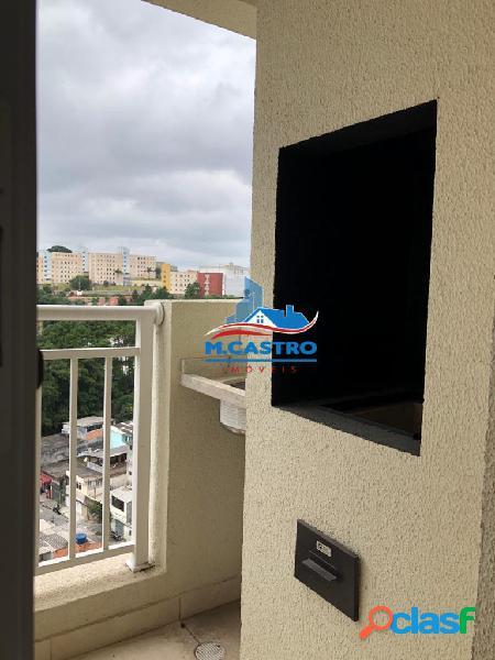 Apartamento novo - 02 dormitórios - terraço com churrasqueira - campo limpo