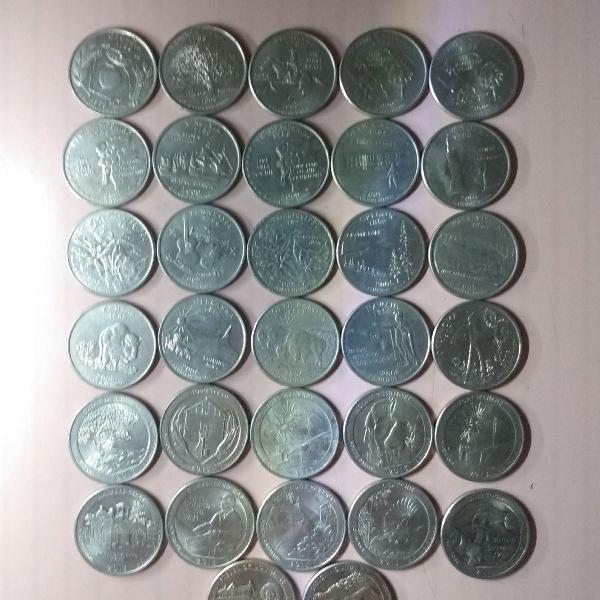 32 moedas quarter dólar dollar especiais r$299