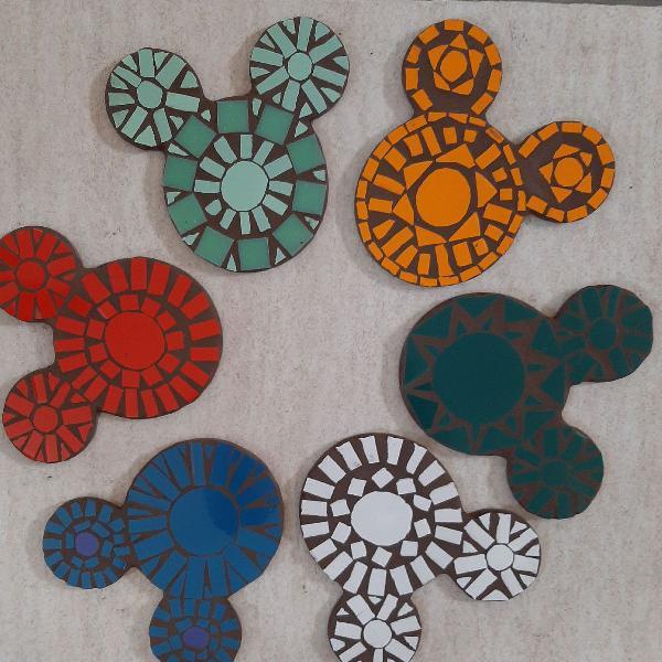 6 pota copos mickey