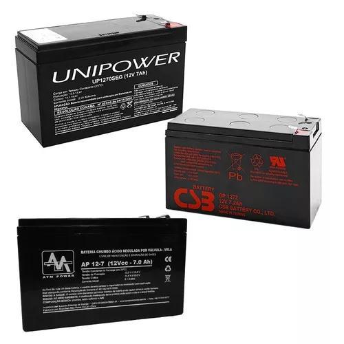 Bateria 12v 7a selada para nobreak alarmes cerca elétrica