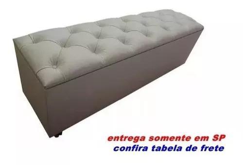 Bau calçadeira beira de cama casal queen 1,60m larg