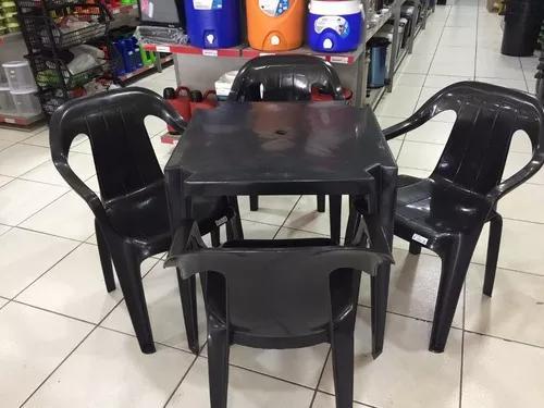 Brasil plásticos jogo de mesa com cadeira plasticas