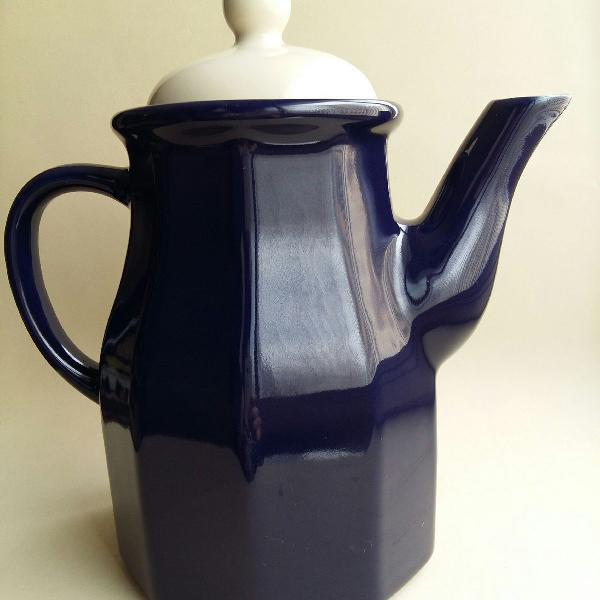 Bule de café ou chá em cerâmica sextavado