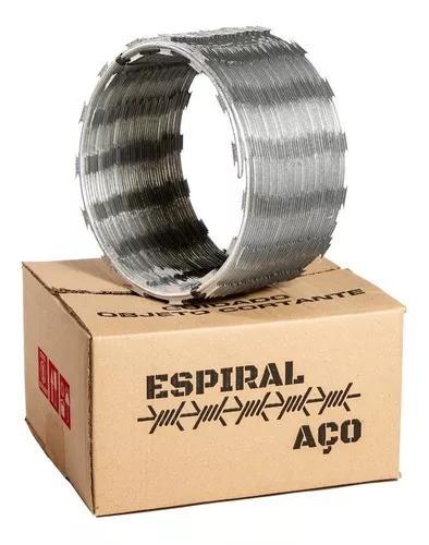 Cerca concertina 30cm rolo com 10 metros galvanizada