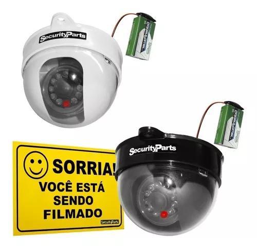 Câmera dome infravermelho falsa c/ led a pilha s/ fio