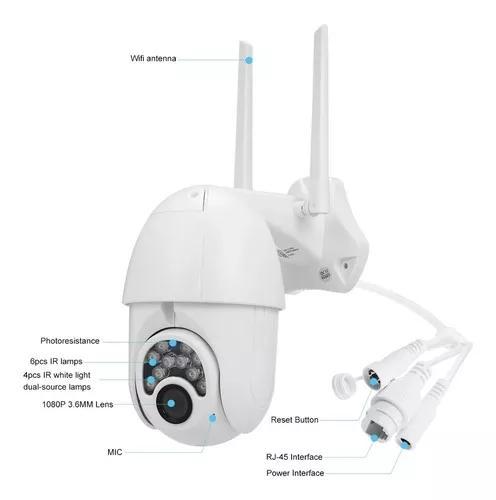 Câmera externa dome hd ip wifi infra 360º resistente a
