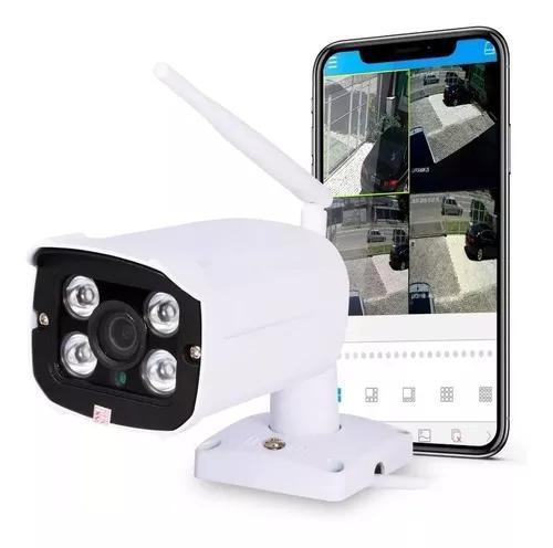 Câmera ip externa wifi 1080p noturna alarme prova d'água