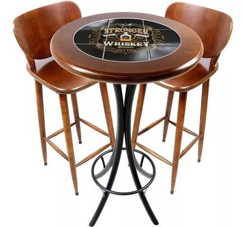 Conjunto de mesa e 2 cadeiras p/ varanda e sacada - bebidas