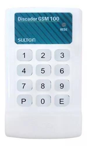 Discadora de alarme e cerca gsm chip sms universal sulton