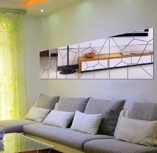 Espelho decorativo grande acrílico quarto sala 40x160cm