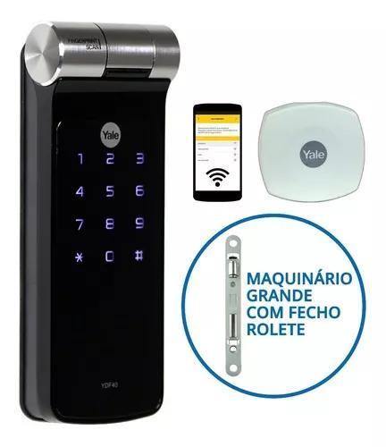 Fechadura biométrica yale ydf 40 rl com fecho rolete wi-fi