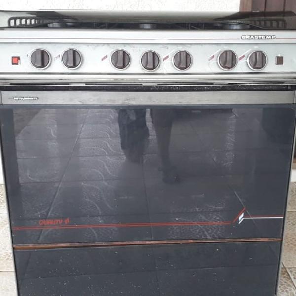 Fogão brastemp quality ii 6 bocas forno e gaveta acendedor