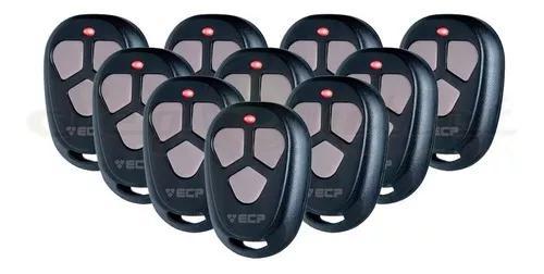Kit 10 controles ecp fit para portão e alarme residencial