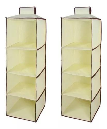 Kit 2 organizador vertical tnt prático para closet e guarda