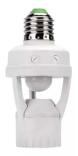 Kit 2 soquete lampada bocal e27 sensor de presença 360º