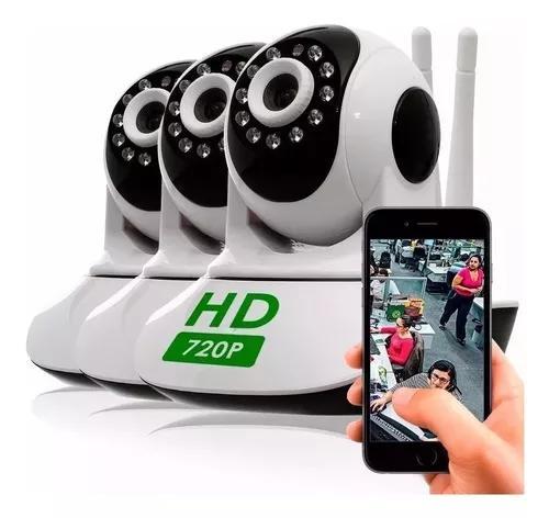 Kit 3 câmera segurança ip hd 720 s