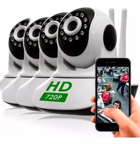 Kit 4 câmera segurança ip hd 720 s