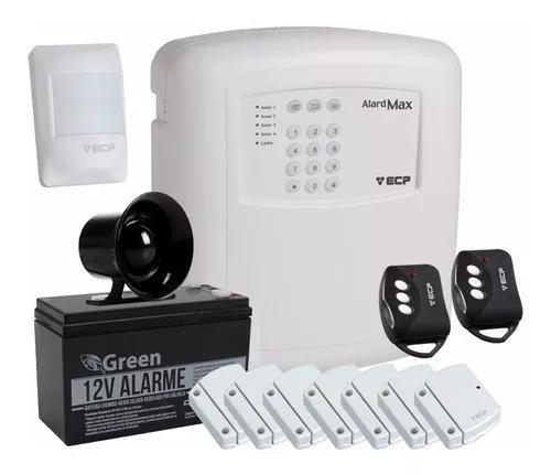 Kit alarme residencial casa comercial ecp alard max4 s