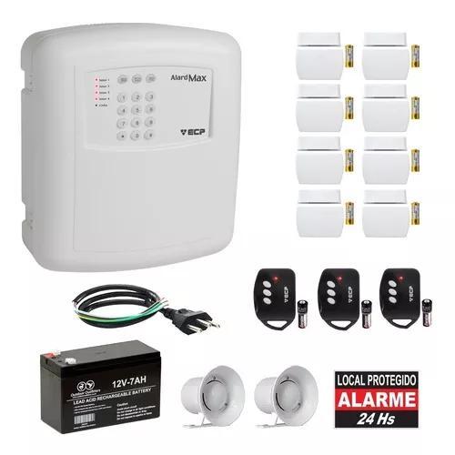 Kit alarme residencial ecp 8 sensores s