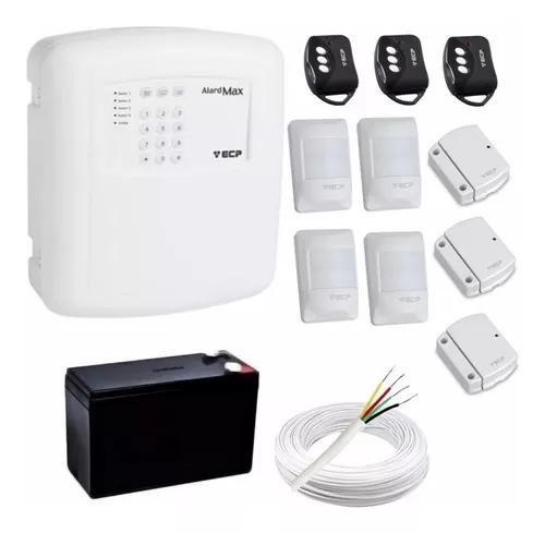 Kit alarme residencial ecp c/ sensores presença e