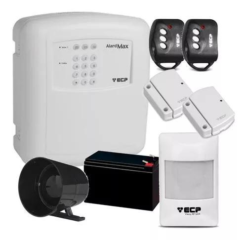 Kit alarme residencial ecp sensores s/ fio (configurado)