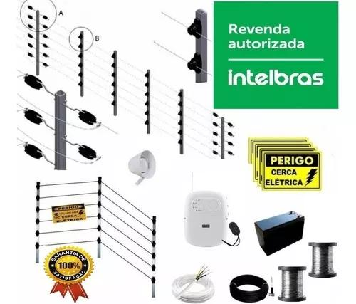 Kit cerca elétrica industrial 80m big 1 metro inox 0,90mm