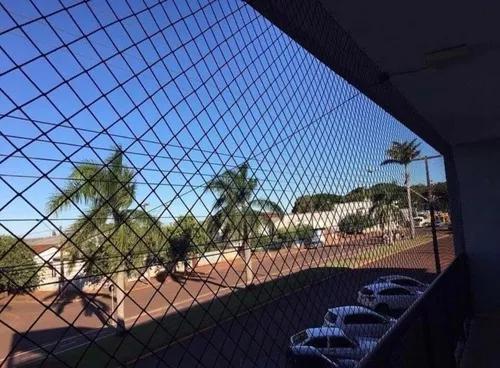 Kit completo rede de proteção janelas sacadas até 5 m²