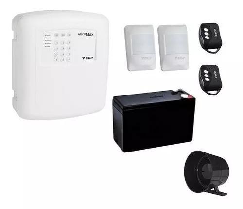 Kit de alarme residencial ecp com 2 sensores de presença