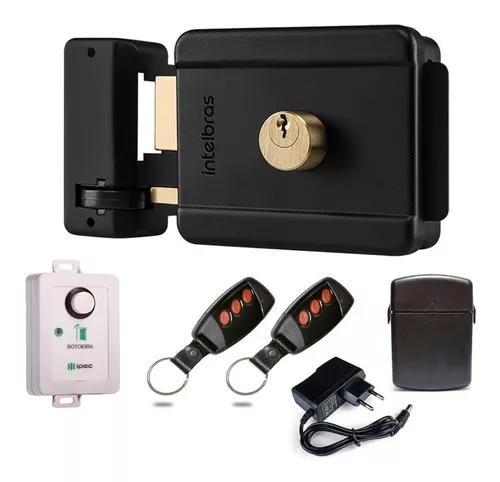 Kit fechadura elétrica intelbras s/ fio c/ acionador r