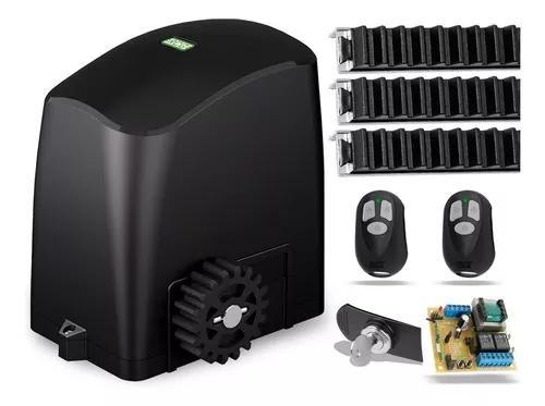 Kit motor p/ portão 3,6m eletrônico correr pl 1/5 rcg