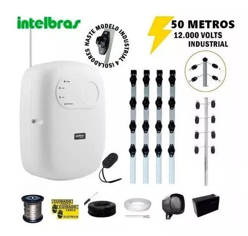 Kit p/50 m cerca elétrica intelbras + big haste 04