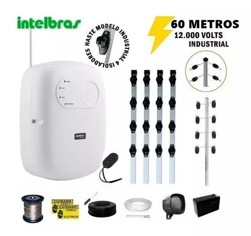 Kit p/60 m cerca elétrica intelbras + big haste 04