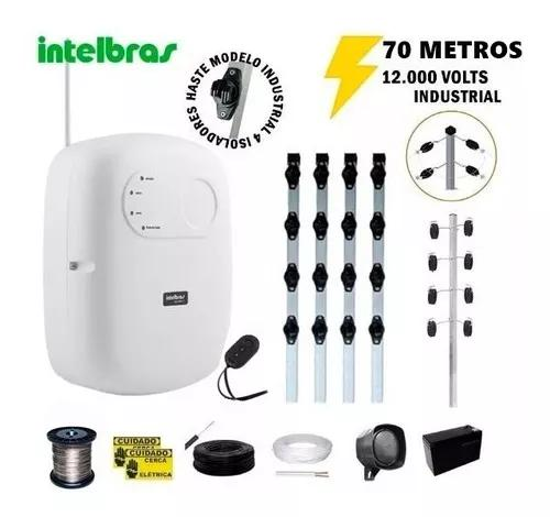 Kit p/70 m cerca elétrica intelbras + big haste 4