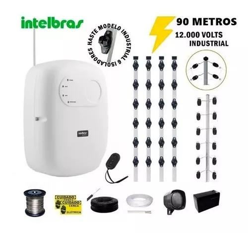 Kit p/90 m cerca elétrica intelbras + big haste 06