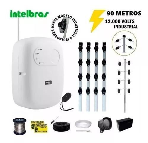 Kit p/90 m cerca elétrica intelbras + big haste 4
