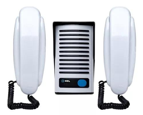 Kit porteiro eletrônico hdl 2 pontos interfone f8 ntl az01