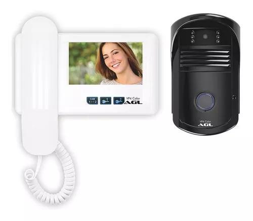 Kit vídeo porteiro interfone residencial agl colorido lcd