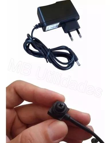 Micro camera espia lente parafuso 2000 linhas + fonte 1a